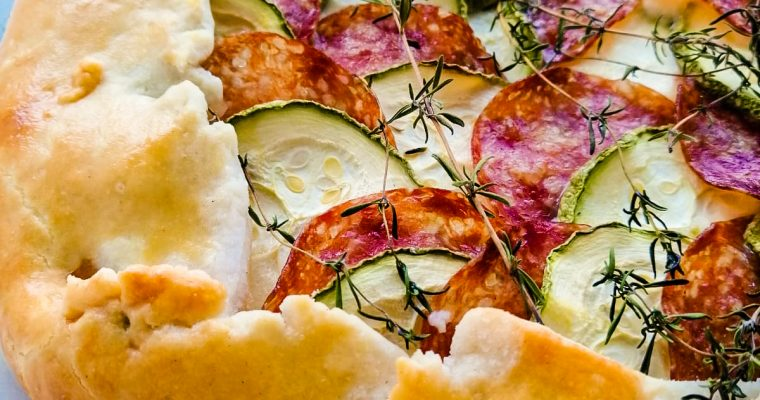 tarta Galette cu zucchini