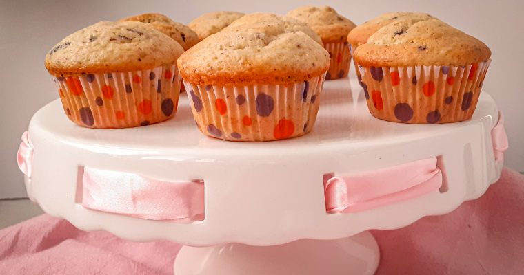 Muffins pufoase cu ciocolată
