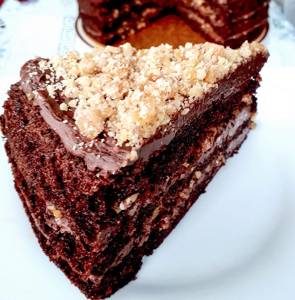 tort krantz cu ciocolata felie