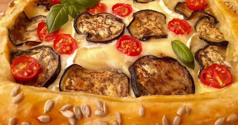 Tartă cu brânză și vinete